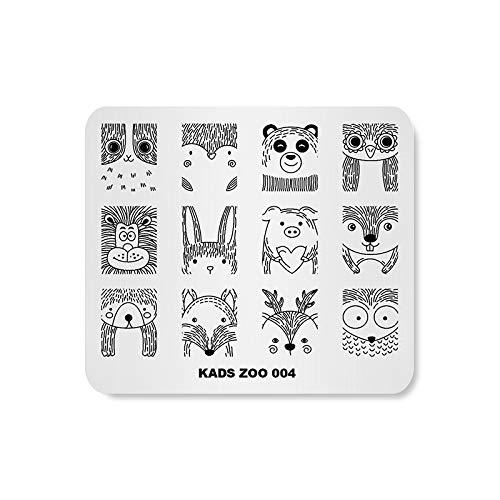 KADS Stamping Plates Cute Animal Rabbit Pig Manicure Template Nail Art Image Stamp Nail Design Tools(ZO004)