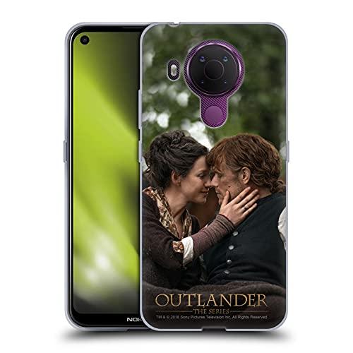 Head Case Designs Licenza Ufficiale Outlander Claire Jamie Bacio Stagione 4 Arte Cover in Morbido Gel Compatibile con Nokia 5.4