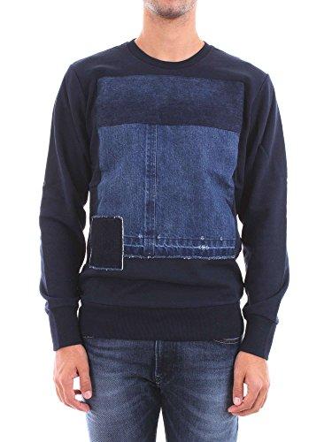 DIESEL Sweat Coton à empiècements Jeans Homme