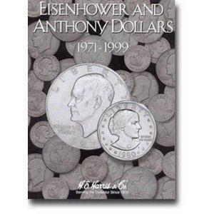 Harris Eisenhower & Anthony Dollars 1971-1999 Coin Folder 2699 - 729440984052 by H.E. Harris
