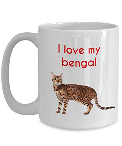 Bengal Cat Mug - Funny Tea Hot Cocoa Coffee Cup - Novelty Birthday Christmas Anniversary Gag Gifts Idea