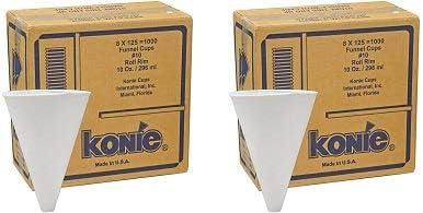 popular Konie Cups 10.0KRF Paper online Cone Funnel Cups, 10 oz, White (2000 sale cups) online