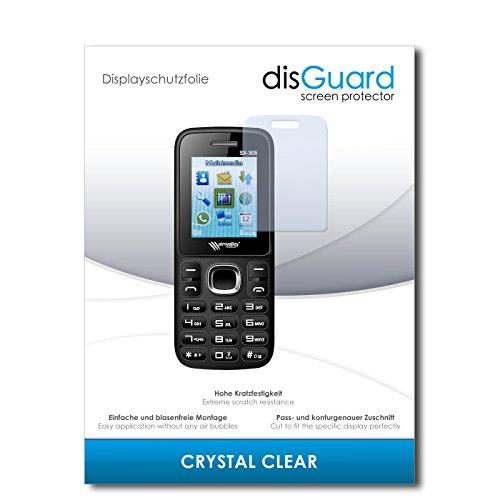 disGuard® Bildschirmschutzfolie [Crystal Clear] kompatibel mit Simvalley Mobile SX-305 Dual-SIM [2 Stück] Kristallklar, Transparent, Unsichtbar, Extrem Kratzfest, Anti-Fingerabdruck - Panzerglas Folie, Schutzfolie