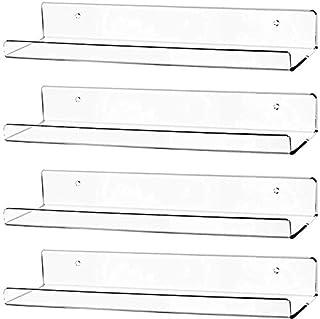 Awe Inspiring Clear Floating Shelves Amazon Com Interior Design Ideas Clesiryabchikinfo