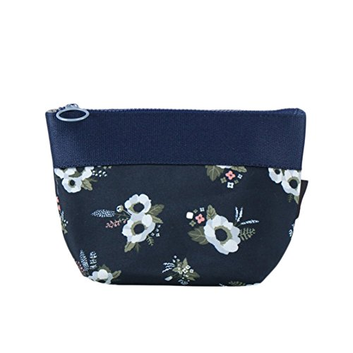 ruikey Große Kapazität Frauen tragbar Wash Aufbewahrungstasche Make Up Kulturtaschen Kosmetiktaschen Nähset für Reisen Camping, Stoff, schwarz, 18*12*7cm