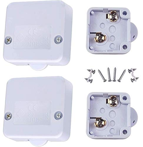 beihuazi® Contacteur de Porte Interrupteur Placard 2A 250V nterrupteur D'éclairage Automatique Pour une Porte de Placard 2Pièce Blanc