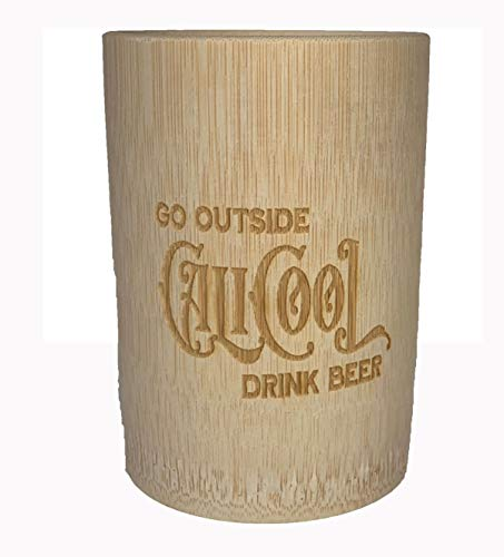 Bamboo Pint Glass for Beer 16 oz. Unbreakable Drinking Cup Tall Pilsner IPA No Plastic BPA Free
