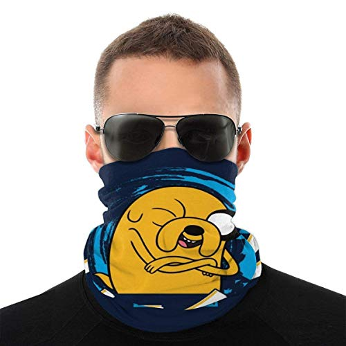 OMarcus Hora de Aventuras Jake The Dog Texto japonés Variedad Headwear Cuello Polaina Cara Bandana Bufanda con 6 Filtros