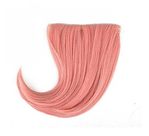 Colorful étape perruque, parti perruque, cheveux Bangs Perruques,Rose