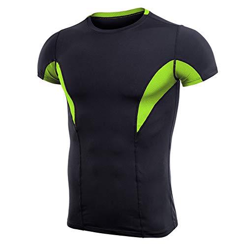 Sportkleding voor heren, korte mouwen, sneldrogend, nauwsluitend, voor de zomer, nauwsluitend joggingpak.