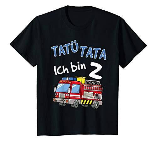 Kinder T-Shirt 2. Geburtstag Jungen Feuerwehrauto 2 Jahre Shirt