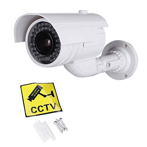 Cámara de Seguridad simulada, Seguridad de vigilancia simulada CCTV Cámara Tipo Bala Pistola Virtual Cámara de Seguridad simulada a Prueba de Agua para Uso en Interiores y Exteriores