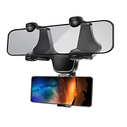 JahyElec Handyhalterung Auto Rückspiegel Spiegel Handy Halterung Halter Autohalterung Smartphone (kompatibel mit Samsung,iPhone,Huawei) S21 S20 S10 S9 A71 A51 P40 12 11 X XS XR Plus Ultra Mini Pro