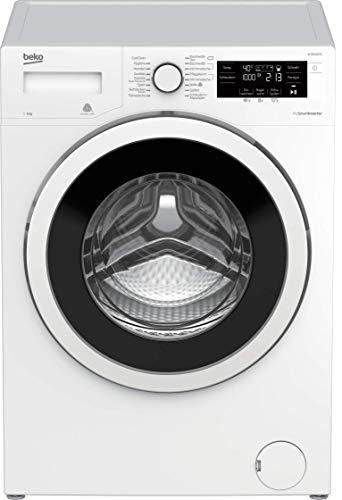 Beko WYA81463S Waschmaschine/ LC-Display mit Startzeitvorwahl 0-24 h/ ProSmart Inverter Motor/ Nachlegefunktion/ elektrischer Watersafe+/ 8 kg