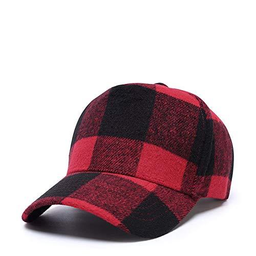 Lunule - Gorra de béisbol estilo clásico con visera plana, tamaño ajustable, para hip-hop Rojo rosso M