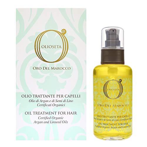 Barex Italiana Olioseta Or du Maroc Huile traitement pour cheveux huile d'argan et graines de lin 100 ml