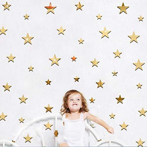 Atiehua Stickers Muraux Étoiles Dorées Stickers Muraux En - Étoile D'Or Étoiles Chambres Enfants Mur Art Décor De Pépinière Autocollants