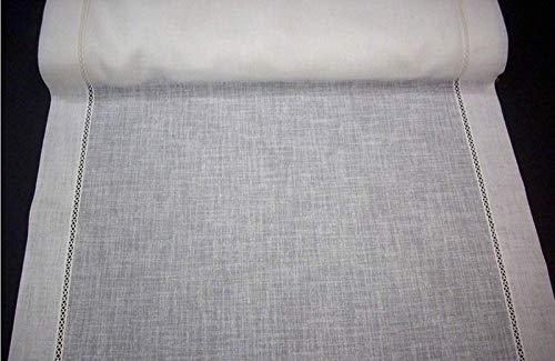 Mauro gordijnen met gordijn, per meter – breedte 30 – 35 – 40 – 45 – 50 – 55 – 60 – 65 – 70 – 75 – 80 – 85 – 90 – 100 – 120 cm – polyester linnenlook