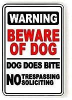ブリキ メタル プレート サイン 2枚 犬の金属製のブリキの看板に注意してください不法侵入を勧誘する屋外の看板ガレージストリート&ホームバークラブレストランの壁の装飾看板12インチX 8インチ(30cm X 20cm)