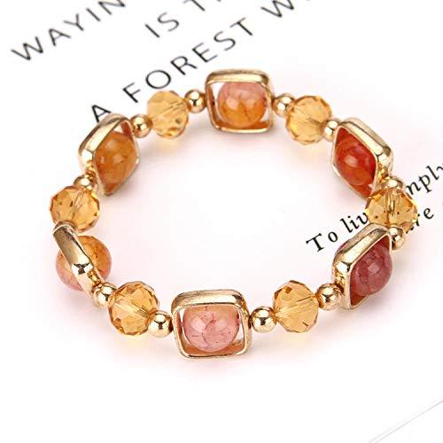 WENZHEN Opal Armband, New Jewelry Opal, Damenarmband, Drachenachat, Duobao Natural Crystal @ Kaffee