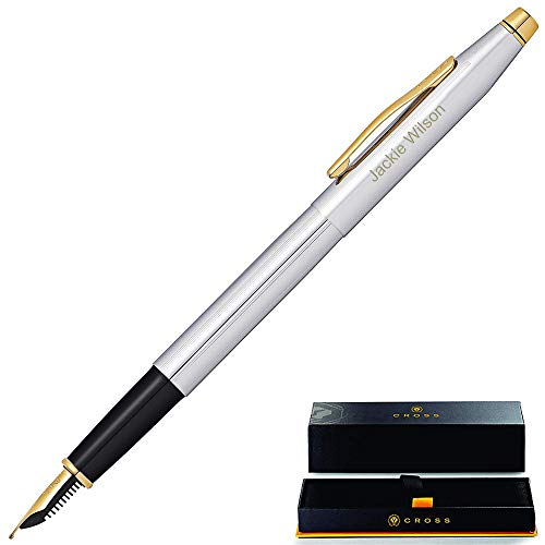 Cross Fountain Pen | Engraved/Personalized Cross Classic Century Medalist Fountain Pen with Gold Trim AT0086-109MF. Custom Engraved Fast!