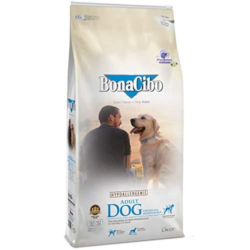 Bonacibo Dog pollo y arroz con sardellellas, alimento seco para perros adultos de todas las razas | 15 kg