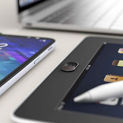 innoGadgets 3X Webcam Abdeckung aus Metall | Laptop Webcam Cover - Anti-Spionage-Schutz | Kamera-Sticker Ultra dünnes Design | Starker Halt mit 3M-Tape | Metall Schwarz