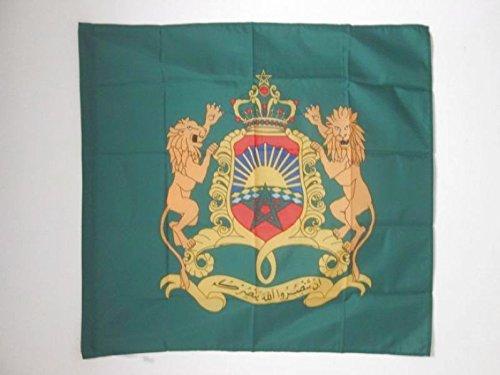 AZ FLAG Flagge KÖNIGLICHE STANDARTE VON MAROKKO 90x90cm - MAROKKANISCHE Fahne 90 x 90 cm Scheide für Mast - flaggen Top Qualität