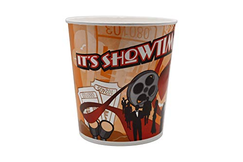 Review Of Beach City Wholesalers Showtime Popcorn Tubs 130 oz holds 4 oz of popcorn (300 count)