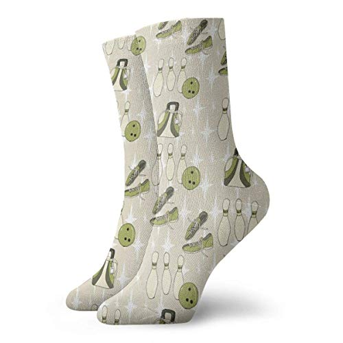 Hangdachang Socken für Damen und Herren, Bowlingsocken, Sportsocken, Länge 30 cm