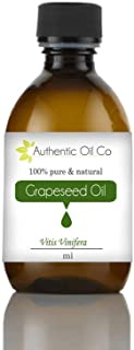 Grapeseed oil 100% pure cosmetic grade 10 ml