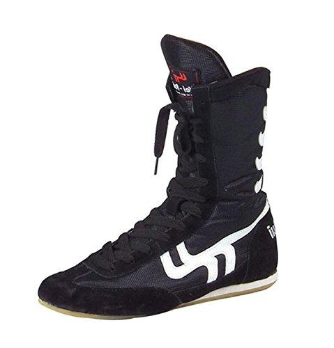 Chaussures de Lutte Boxe Bottes Semelle en Caoutchouc Combat