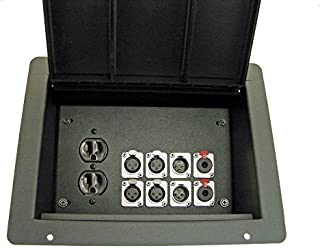 ProCraft Pro Audio Recessed Stage Floor Box 1 AC Duplex 8 XLR/Channel Any Configuration Made in the USA