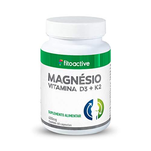 Magnésio Vitamina K2 e Vitamina D3 400 mg 60 Cápsulas Fitoactive