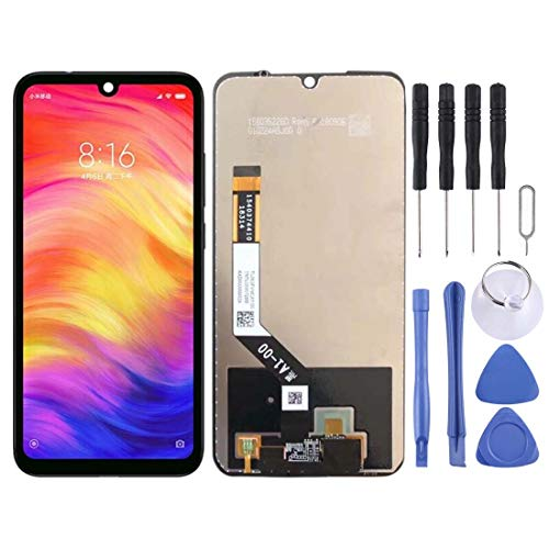 Jiangym Mobile Phone LCD Screen LCD Screen and Digitizer Full Assembly for Xiaomi Redmi Note 7 / Note 7 Pro(Black) LCD Screen (Color : Black)