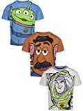 Disney Pixar Toy Story Toddler Boys 3 Pack T-Shirts Buzz Lightyear Mr Potato Head Alien 4T Blue