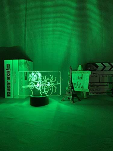 GMYXSW 3D noche luz acrílico 3D llevó la noche cazador X H Feitan lámpara para niños dormitorio decoración Nightlight HXH Gift-Touch