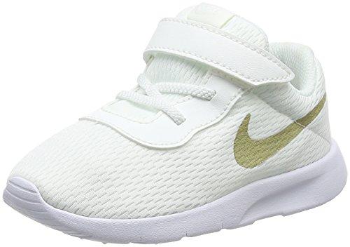 Nike Tanjun (TDV), Scarpe da Ginnastica Basse Bambino Bimbo 0-24, Bianco (Summit White/Metallic Gold Star-White 100), 23.5 EU