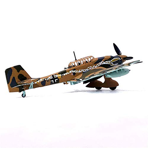 DAYUFEI 1/72 alemán Stuka Ju-87 Buceo Bombardero Aviones de Combate Die-Cast Metal Modelo de avión de Juguete para coleccionar Regalos, Decoración Infantil