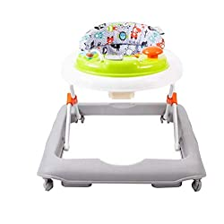 Electronic removable play tray. Stop n go safety base. Deep padded seat for comfort. 3 selectable heights. Folds easily for ease of storage.