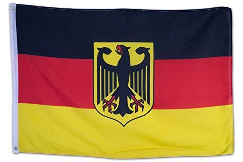 SCAMODA Bundes- und Länderflagge aus wetterfestem Material mit Metallösen (Deutschland-Adler) 60x90cm