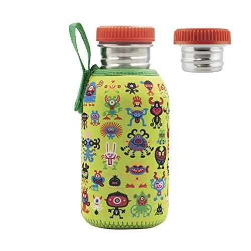 Laken Botella Basic Steel Funda Neo 0,5 L. Tapón Acero, Pekemonsters, Juventud Unisex, Multicolor (Multicolor), Talla Única