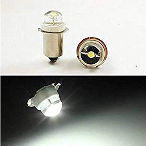 8 x P13.5S 3 V 4.5 V 6 V 0.5 W 0.75 W 6000 K blanco LED bombilla antorcha linterna mini cabeza lámpara