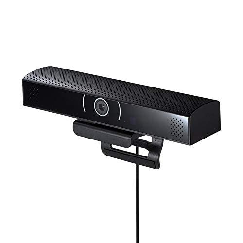 サンワサプライ WEBカメラ スピーカ内蔵 広角レンズ 200万画素 USBポートつき Skype スカイプ Zoom ズーム ブラック CMS-V48BK