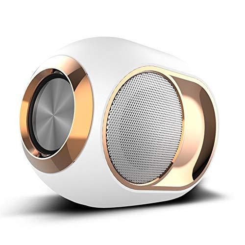 QTWL Die neuen grenzüberschreitenden X6 drahtlose Bluetooth-Lautsprecher Subwoofer TWS Serie Soundkarte unterstützt OEM (Color : White)