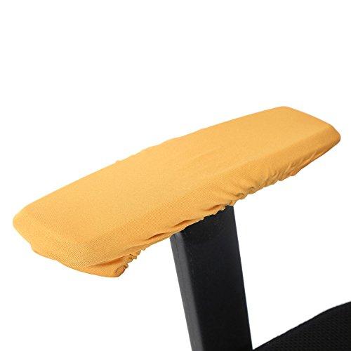 Stoelarmsteunhoezen, 1 paar Fauteuilhoezen Afneembare stoelarmhoezen Elastische beschermer Computerstoel Armhoezen Geschikt voor de meeste bureaustoelen(gouden)