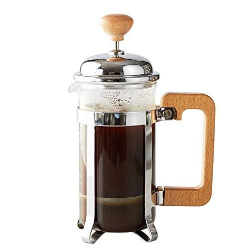 DONDOW Prasa do kawy French ciśnieniowa garnek do puli do kawy ze stali nierdzewnej do kawy herbaty ekspres do kawy filtr garnek kuchenny Urządzenia ekspres do kawy (kolor: jasny, rozmiar: 350ml) Dz