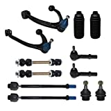 Detroit Axle - Front Upper Control Arm With Ball Joint + Inner And Outer Tie Rods + Sway Bar Links Replacement For Cadillac ESV Chevy GMC Silverado Suburban Sierra Yukon XL 1500 Tahoe Yukon - 12pc Set