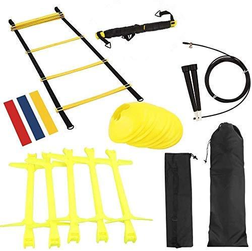 KIKILIVE Échelles de coordination pour football, 18 pièces Speed Agility Kit d'entraînement,...