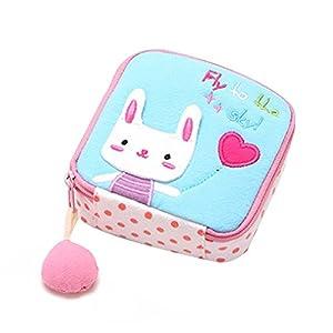 ruiting Cartoon Coin Purse Bag,Sanitary Napkins Storage Bag Mini Coin Bags